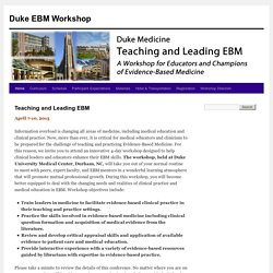 Duke EBM Workshop