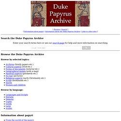 Papyrus Archive