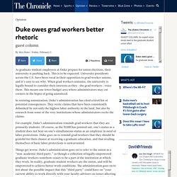 Duke owes grad workers better rhetoric