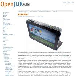 DukePad - OpenJFX -OpenJDK Wiki