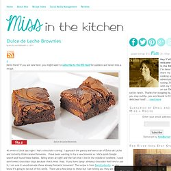 Dulce de Leche Brownies - StumbleUpon