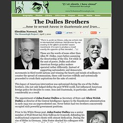 The Dulles Brothers