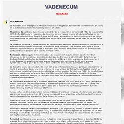 DULOXETINA EN VADEMECUM