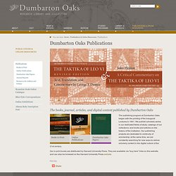 Online Publications | Publications | About | Dumbarton Oaks