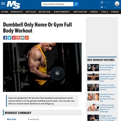 Dumbbell Only Home Or Gym Full Body Workout