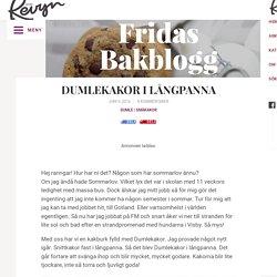DUMLEKAKOR I LÅNGPANNA – Fridas bakblogg