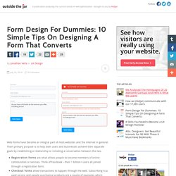 Form Design For Dummies: 10 Simple Tips On Designing A Form That Converts