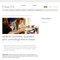 MDM for Dummies. Quando il prof. controlla gli iPad in classe