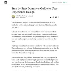 Step by Step Dummy's Guide to User Experience Design