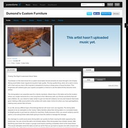 Dumond's Custom Furniture on PureVolume