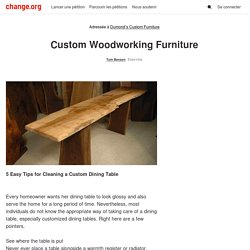 Dumond's Custom Furniture: Custom Woodworking Furniture