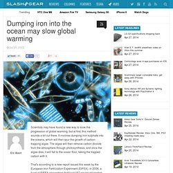 Dumping iron into the ocean may slow global warming