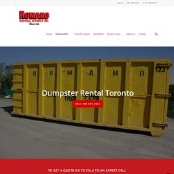 Dumpster Rental in Toronto and GTA