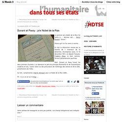 Dunant et Passy : prix Nobel de la Paix
