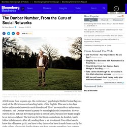 The Dunbar Number, From the Guru of Social Networks