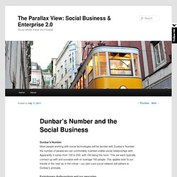 Dunbar's Number and the Social Business