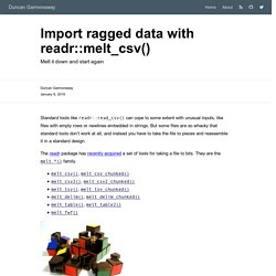 Import ragged data with readr