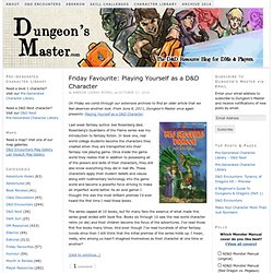 Dungeon's Master — A Dungeons & Dragons Resource Blog For Dungeo