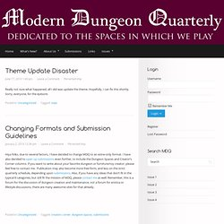 What's New? | Modern Dungeon Quarterly