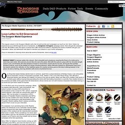 Dungeons & Dragons Roleplaying Game Official Home Page - Article (Love Letter to Ed Greenwood)