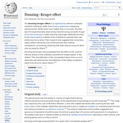 Dunning–Kruger effect - Wikipedia, the free encyclopedia
