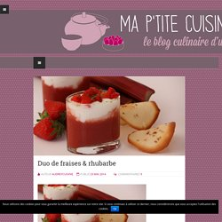 Duo de fraises & rhubarbe