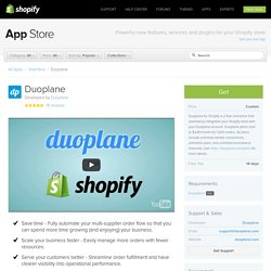 Duoplane – Ecommerce Plugins for Online Stores – Shopify App Store
