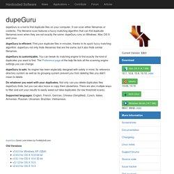 dupeGuru - Duplicate file scanner