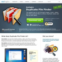 Find duplicate files with Auslogics Duplicate File Finder