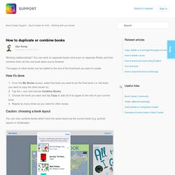 How to duplicate or combine books – Book Creator Support