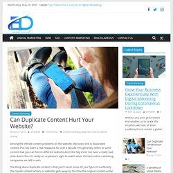 Can Duplicate Content Hurt Your Website? - Eminent Blog