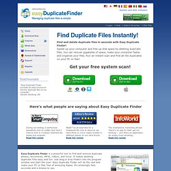 Easy Duplicate File Finder - Remove Duplicate Files