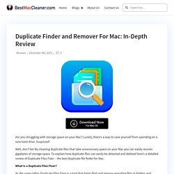 Duplicate Finder and Remover For Mac: In-Depth Review