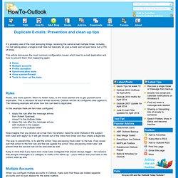 Duplicate E-mails