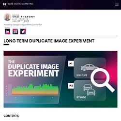 Long Term Duplicate Image Ranking Experiment