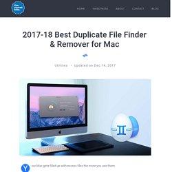 2017-18 Best Duplicate File Finder & Remover for Mac