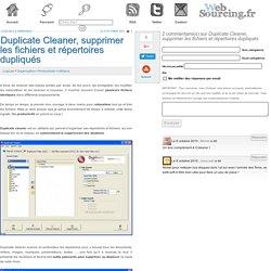 Duplicate Cleaner, supprimer les fichiers et répertoires dupliqués