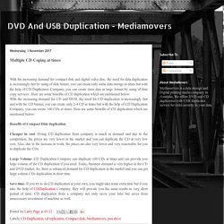 DVD And USB Duplication - Mediamovers: Multiple CD Coping at times