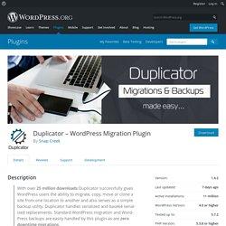 Duplicator «WordPress Plugins