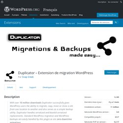 Duplicator — WordPress Plugins