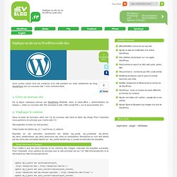 Dupliquer un site sur un Wordpress multi-sites