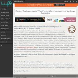 Copier / Dupliquer un site WordPress en ligne sur un serveur local