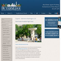 Dupont - Kalorama DC Real Estate Listings For Sale Now