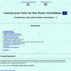F. Duprat: Conseils pour Faire un Bon Poster.