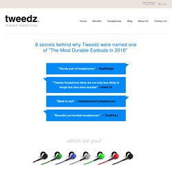Durable Earbuds, Built to Last – Tweedz Braided Headphones