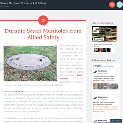 Durable Sewer Manholes from Allied Safety