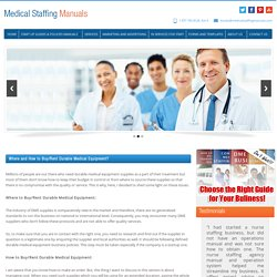 Where And How To Buy/Rent Durable Medical Equipment?