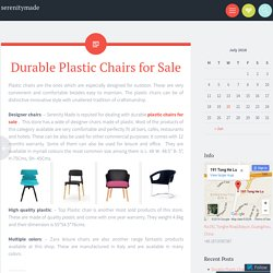 Durable Plastic Chairs for Sale