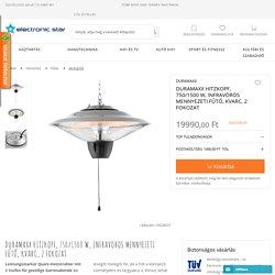 DURAMAXX Hitzkopf, 750/1500 W, infravörös mennyezeti fűtő, kvarc, 2 fokozat előnyős vásárlás