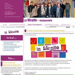 CPIE Haute-Durance : La ressourcerie la Miraille
